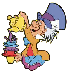Disney mad hatter clipart