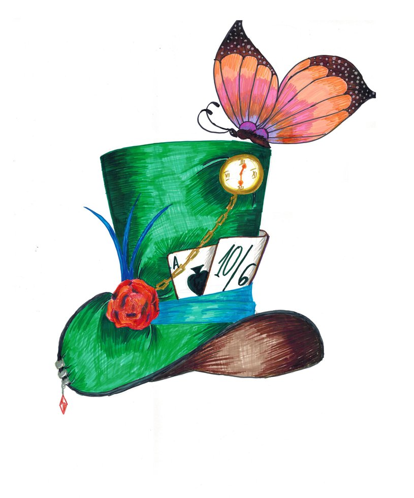Disney mad hatter hat clipart banner black and white stock 17 Best images about gato alicia on Pinterest | Disney, Wonderland ... banner black and white stock
