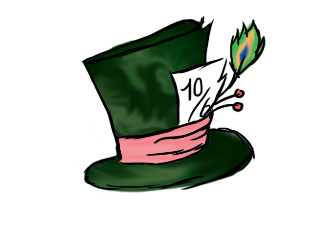 Disney mad hatter hat clipart banner library Mad Hatter Sketch Clipart - Clipart Kid banner library
