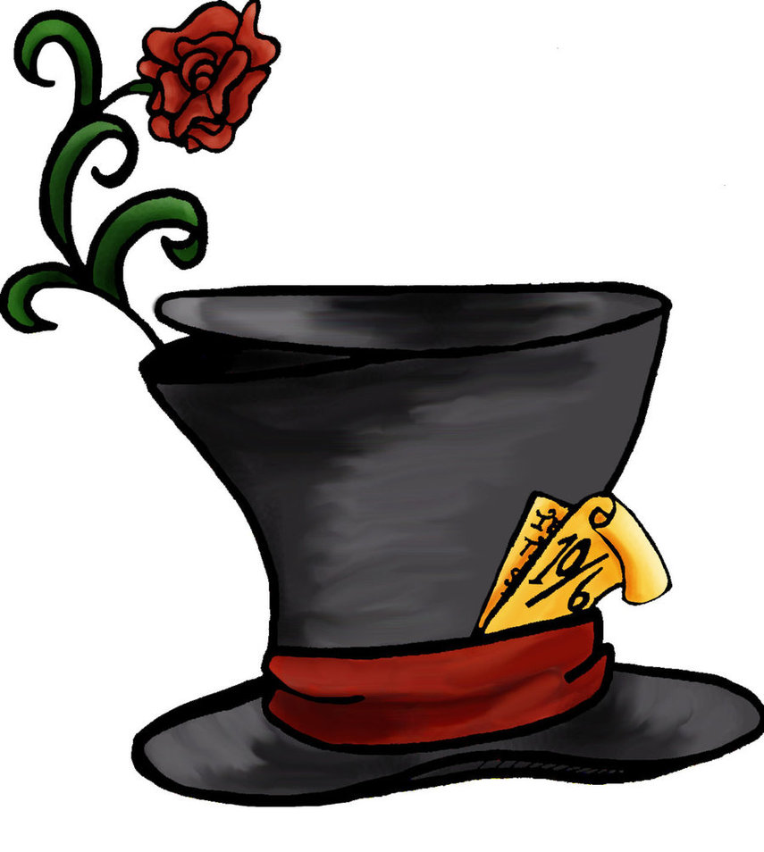 Disney mad hatter hat clipart banner library library Mad Hatter Drawing - ClipArt Best banner library library