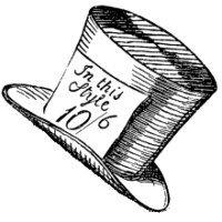 Disney mad hatter hat clipart vector transparent Mad Hatter Sketch Clipart - Clipart Kid vector transparent