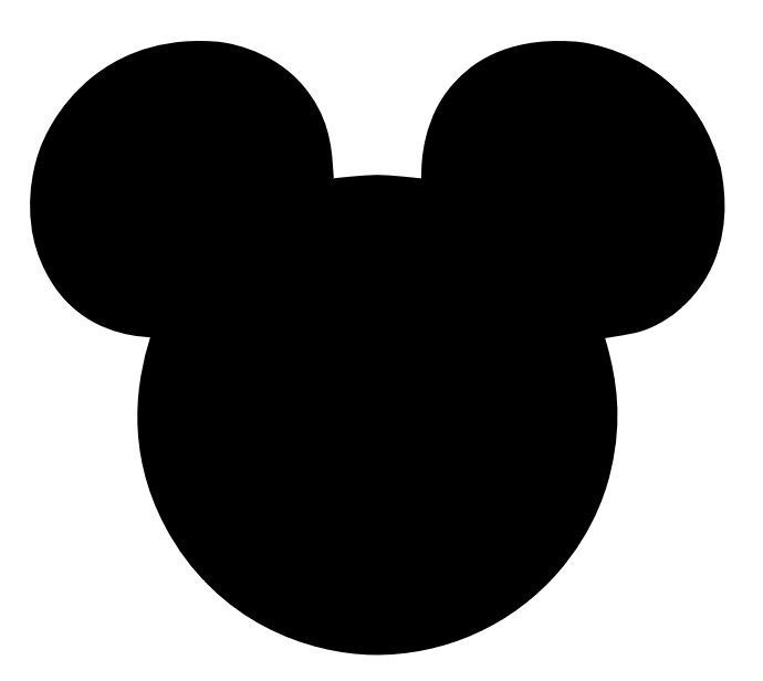Disney mickey clipart image black and white download Free download Mickey Silhouette Clipart for your creation. | DISNEY ... image black and white download