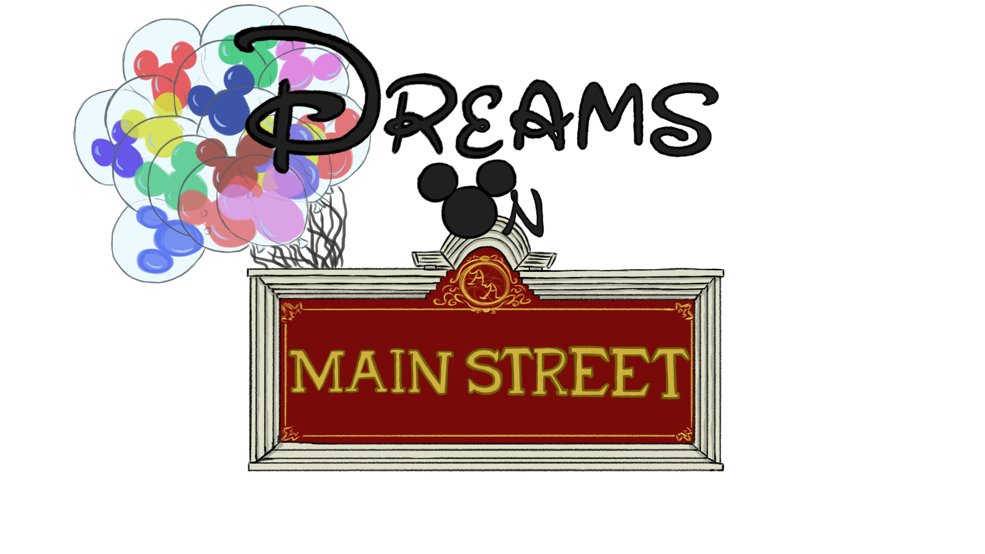 Disney parks blog halloween clipart graphic black and white stock Dreams on Main Street graphic black and white stock