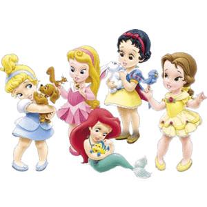Disney princes babies clipart jpg black and white Baby Clipart - Polyvore jpg black and white