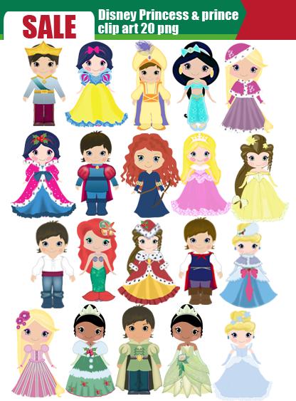Disney princes clipart clip transparent stock Christmas Disney Princess Clipart - Clipart Kid clip transparent stock