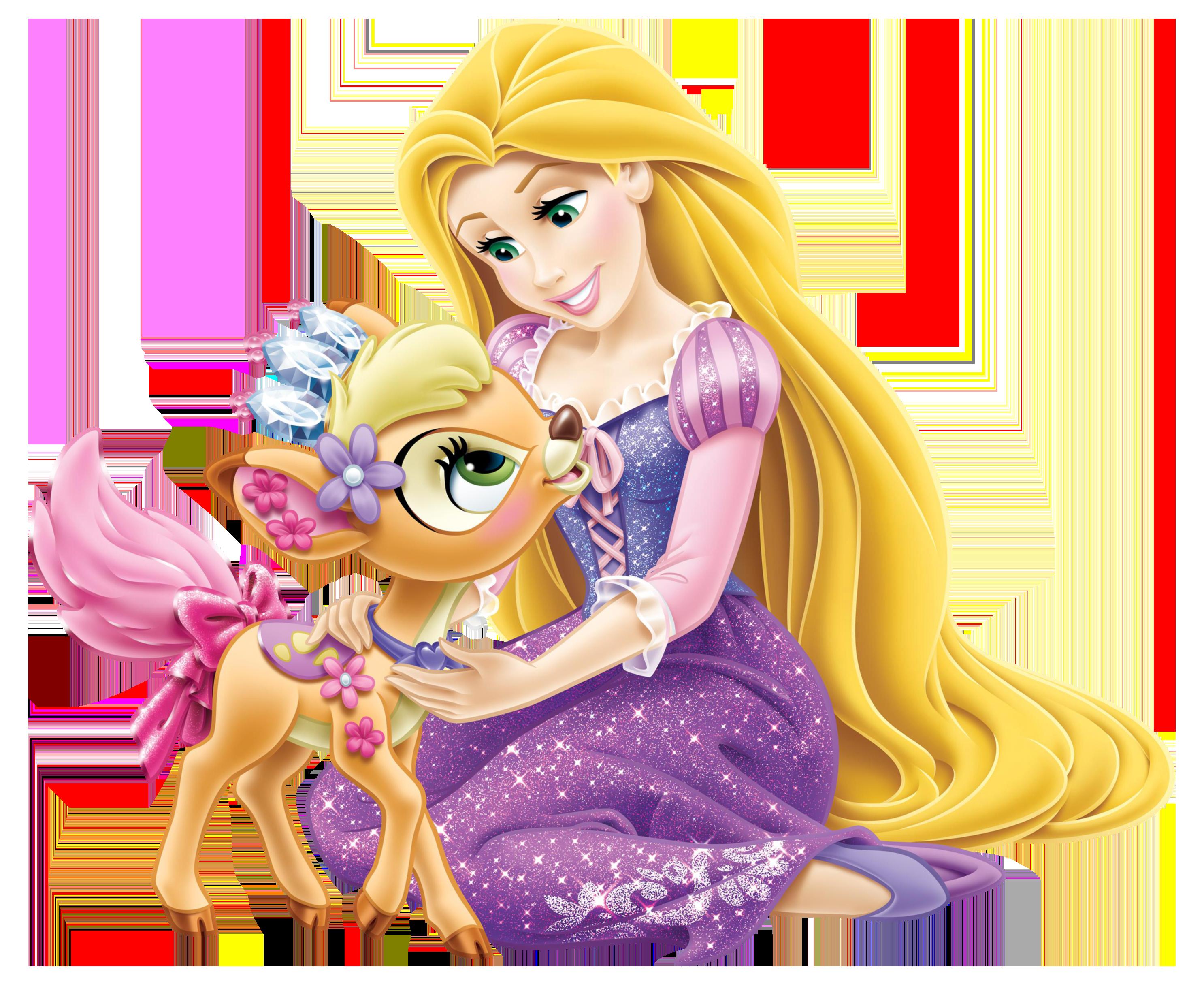 Disney princess christmas clipart clip library library Disney Princess Rapunzel with Little Deer Transparent PNG Clip Art ... clip library library