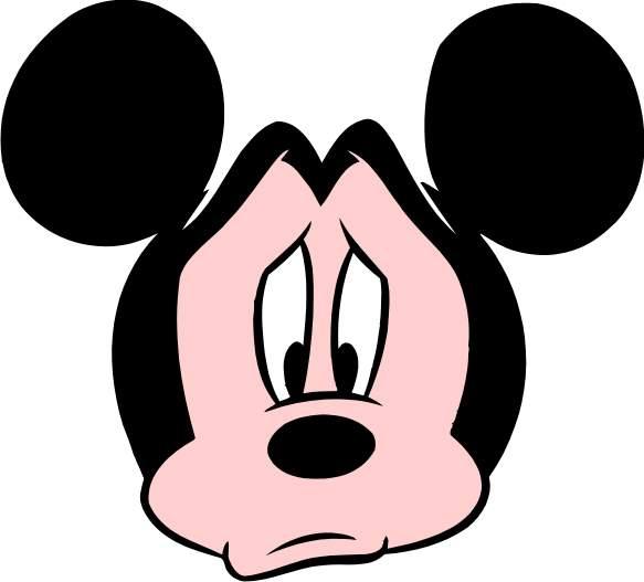 Clipartfest mickey. Disney sad character clipart