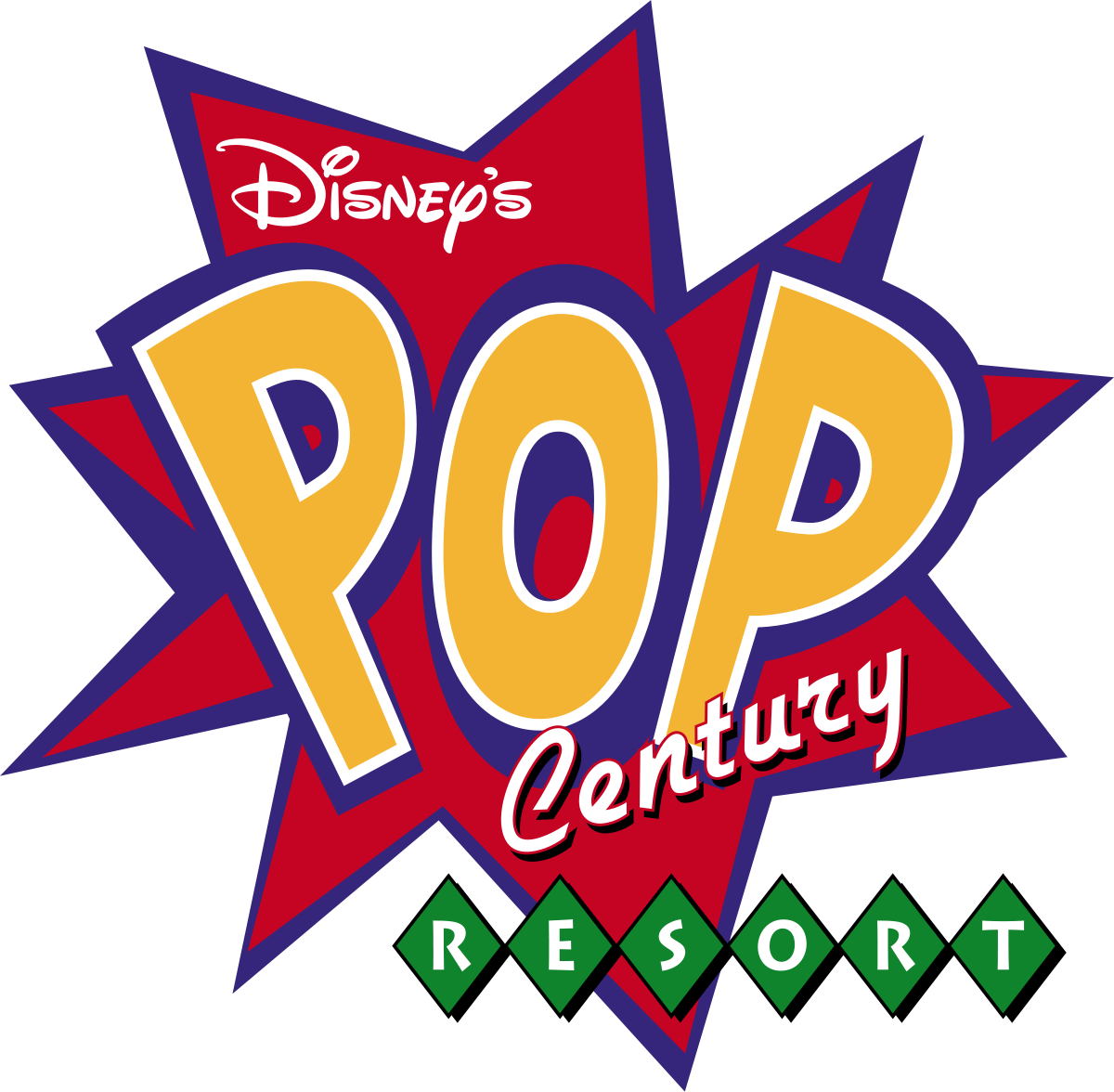 S pop century resort. Disney star clipart