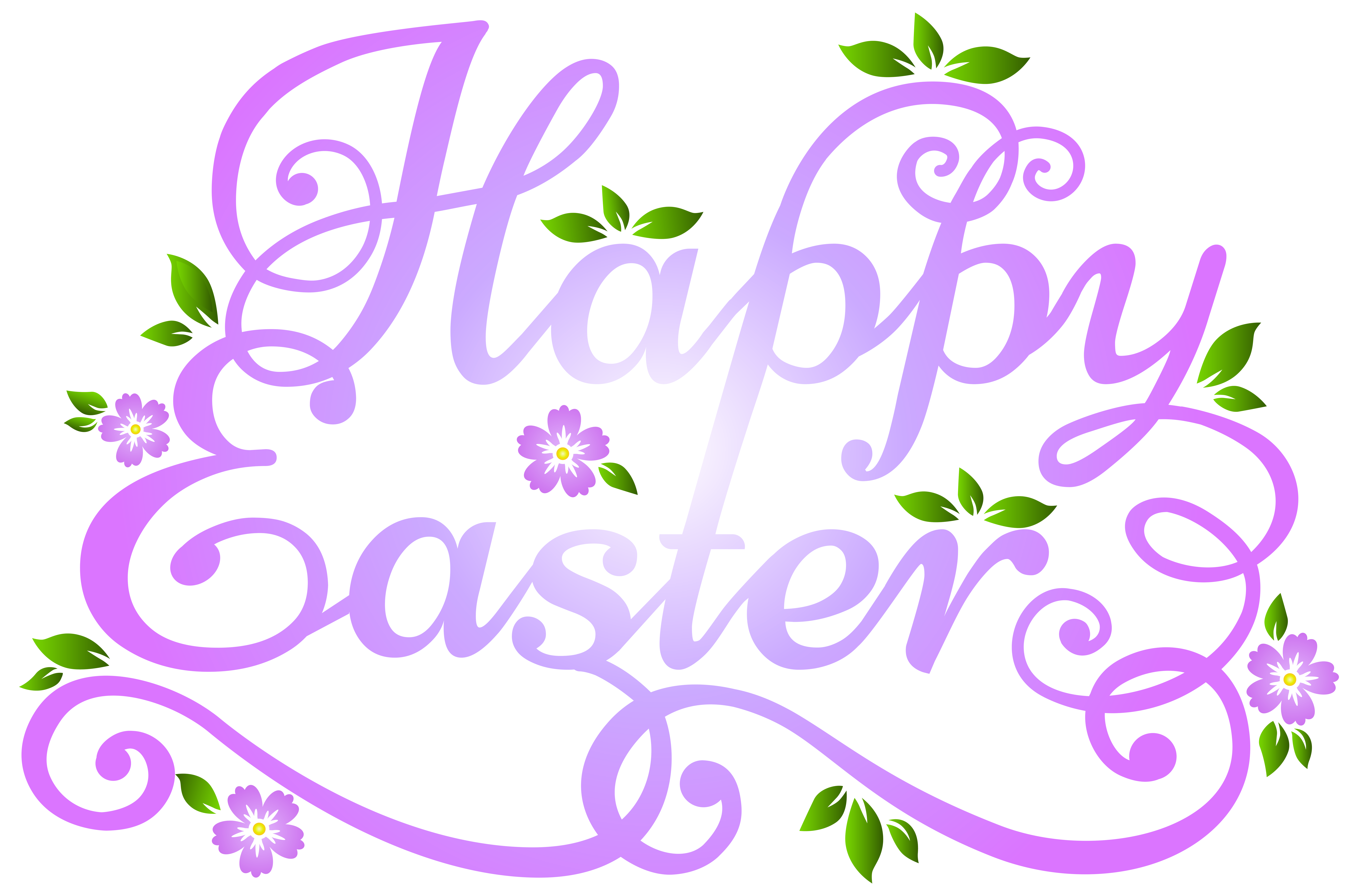Easter flower clipart free svg stock Deco Happy Easter Transparent PNG Clip Art Image | Gallery ... svg stock