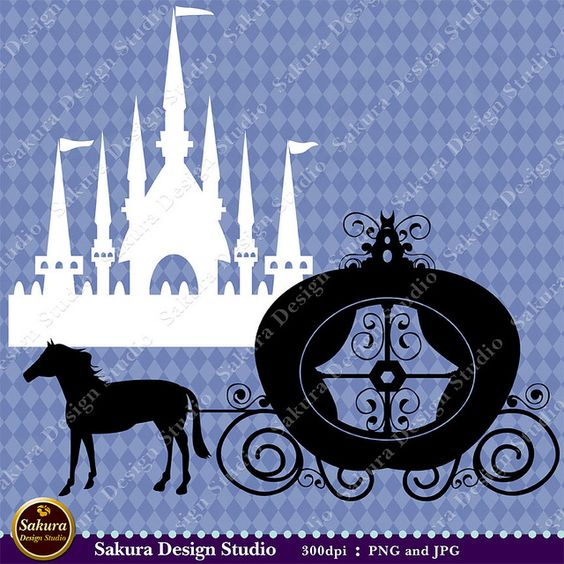 Disney surfboard clipart clipart freeuse download Disney World Castle Painting | Cinderella Castle and Coach 2 Clip ... clipart freeuse download