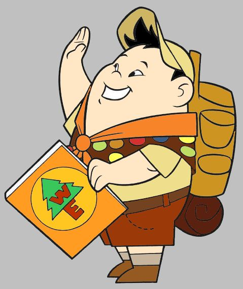 Russell and kevin clip. Disney up character clipart