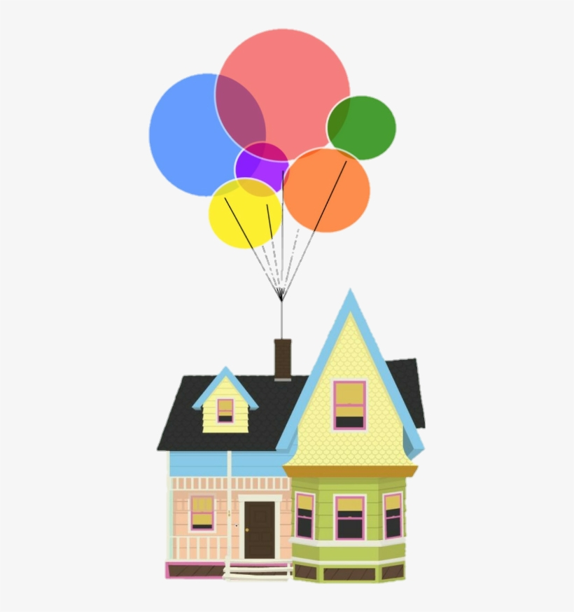 Up movie house clipart transparent image black and white stock Up Movie Pixar Colorful Rainbow Home House Balloons - House From ... image black and white stock