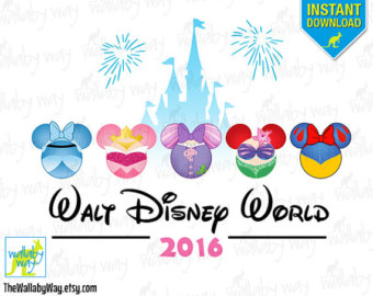 Etsy your place to. Disney world 2016 clipart