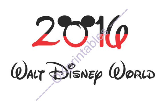 Disney world clipart 2016 picture transparent library Gallery For > Printable Disney World 2016 Clipart picture transparent library