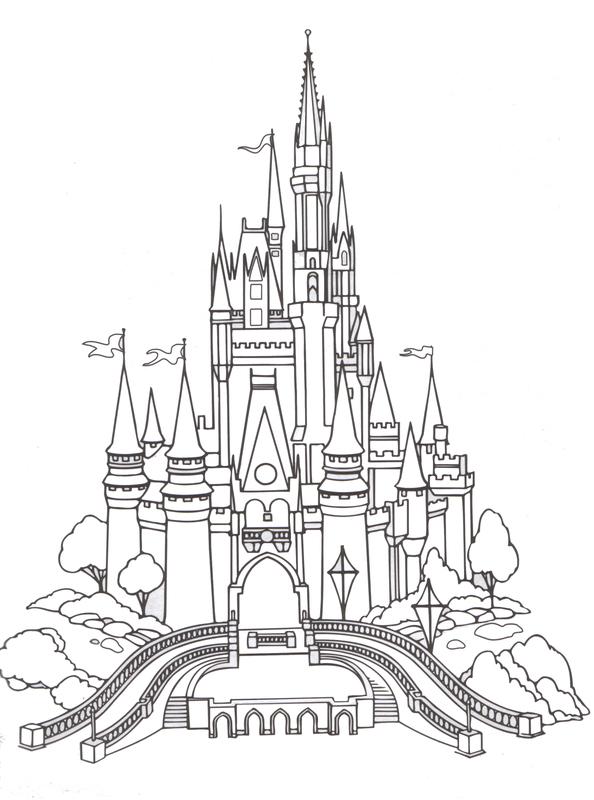 Disney world magic kingdom clipart clip art royalty free download Magic kingdom castle outline clipart - ClipartFest clip art royalty free download