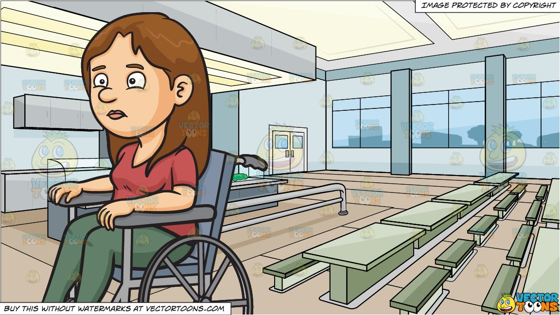 Disoriented clipart image free library A Disoriented Woman In A Wheelchair and High School Cafeteria Background image free library
