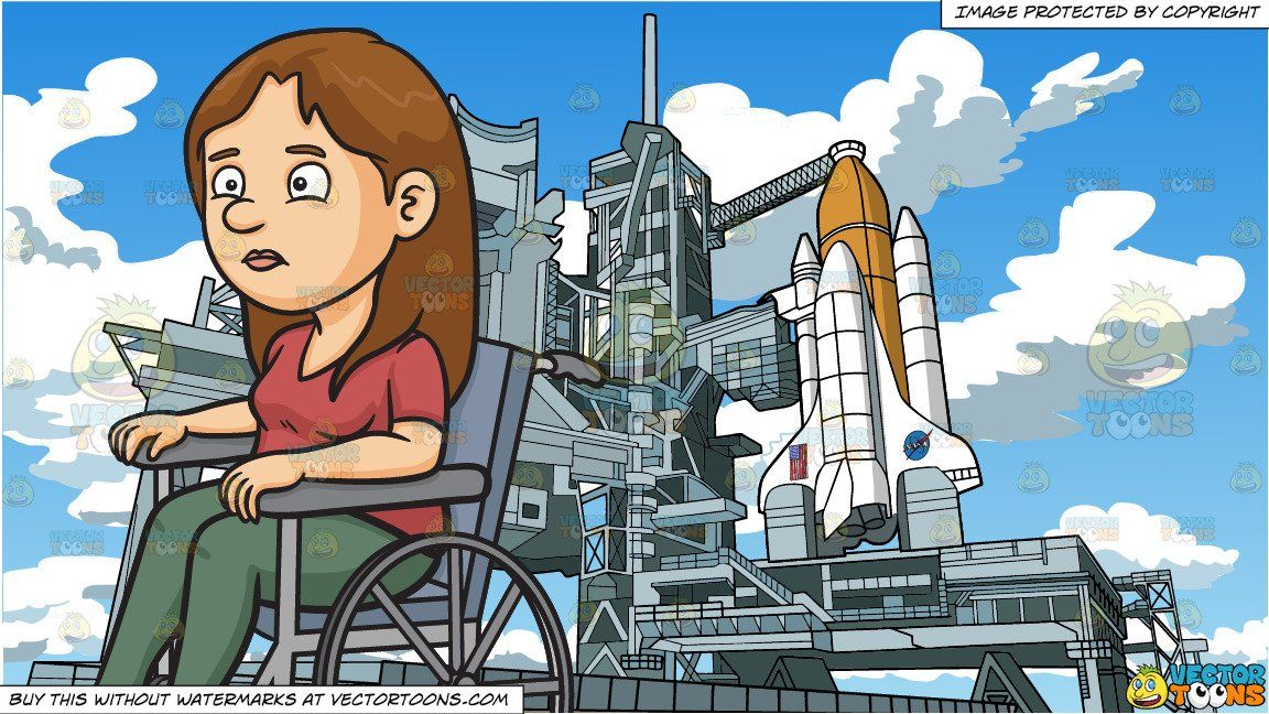 Disoriented clipart graphic free library clipart #cartoon A Disoriented Woman In A Wheelchair and Nasa Space ... graphic free library