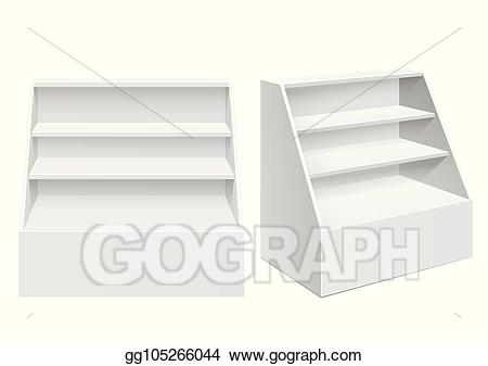 Display rack clipart graphic library stock Vector Clipart - Display rack shelves for supermarket. Vector ... graphic library stock