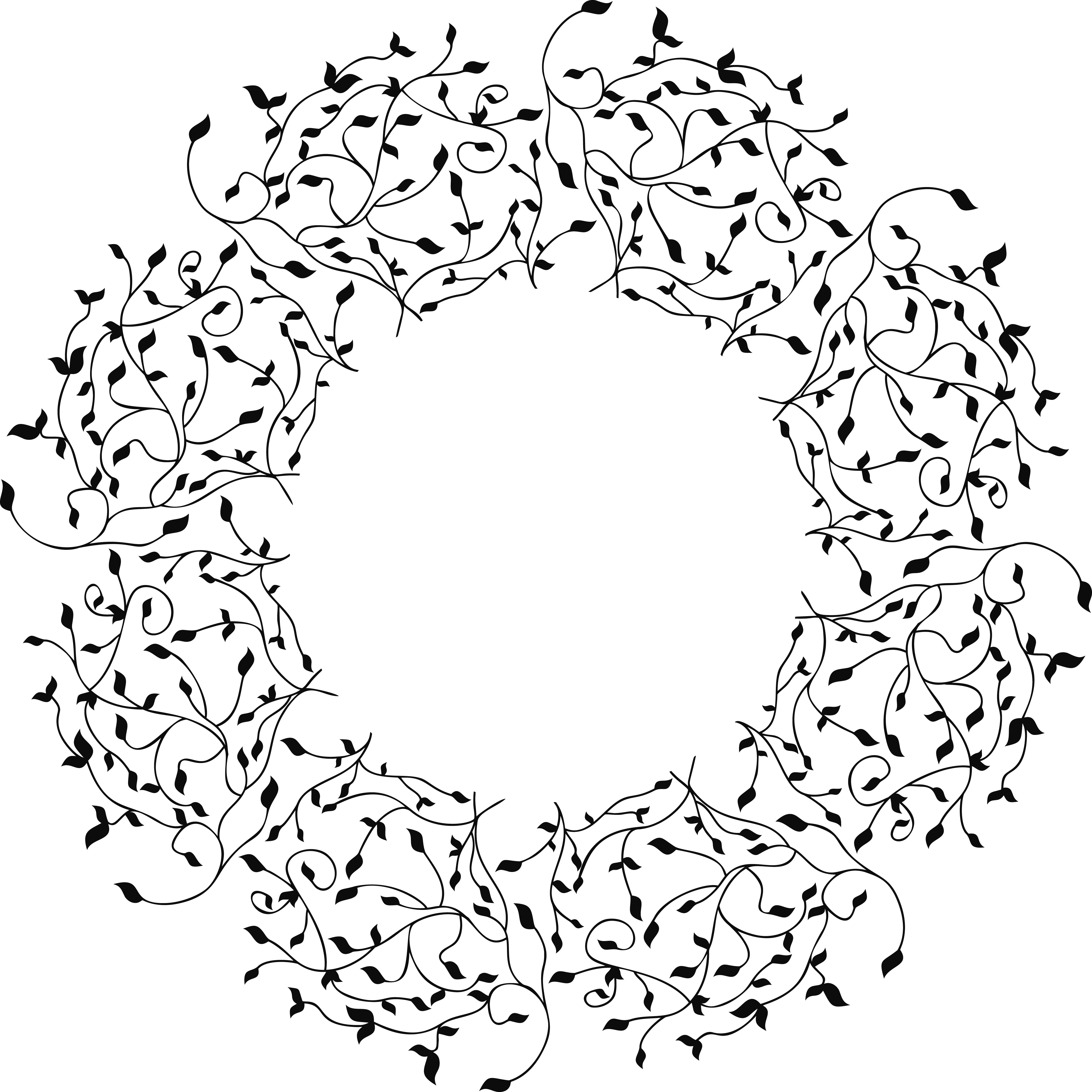 Distressed snowflake clipart black and white png black and white stock 2045-Free-Clipart-Of-A-Decorative-Border.png 4,000×4,000 pixels ... png black and white stock