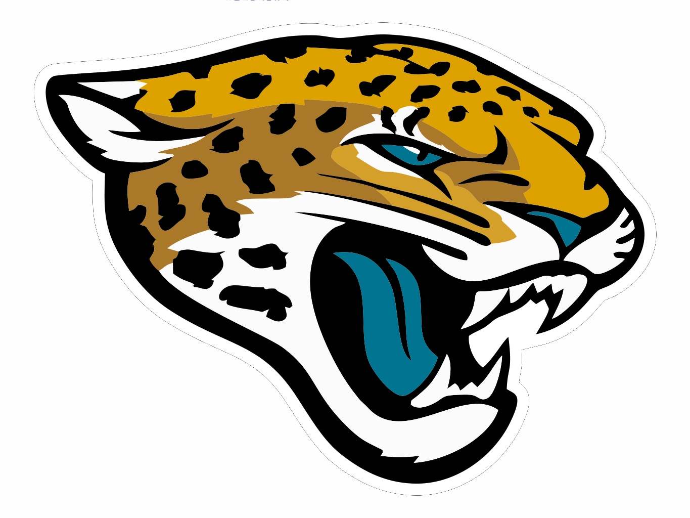 Distressed football outline clipart png stock Jacksonville Jaguars Cut | Free Images at Clker.com - vector clip ... png stock