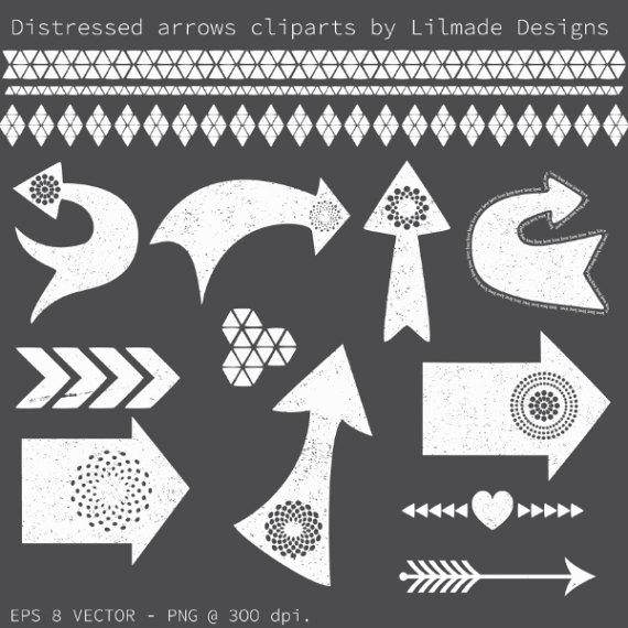 Distressed tribal arrow clipart image black and white Arrow clipart, distressed arrow clipart, chalkboard clipart ... image black and white
