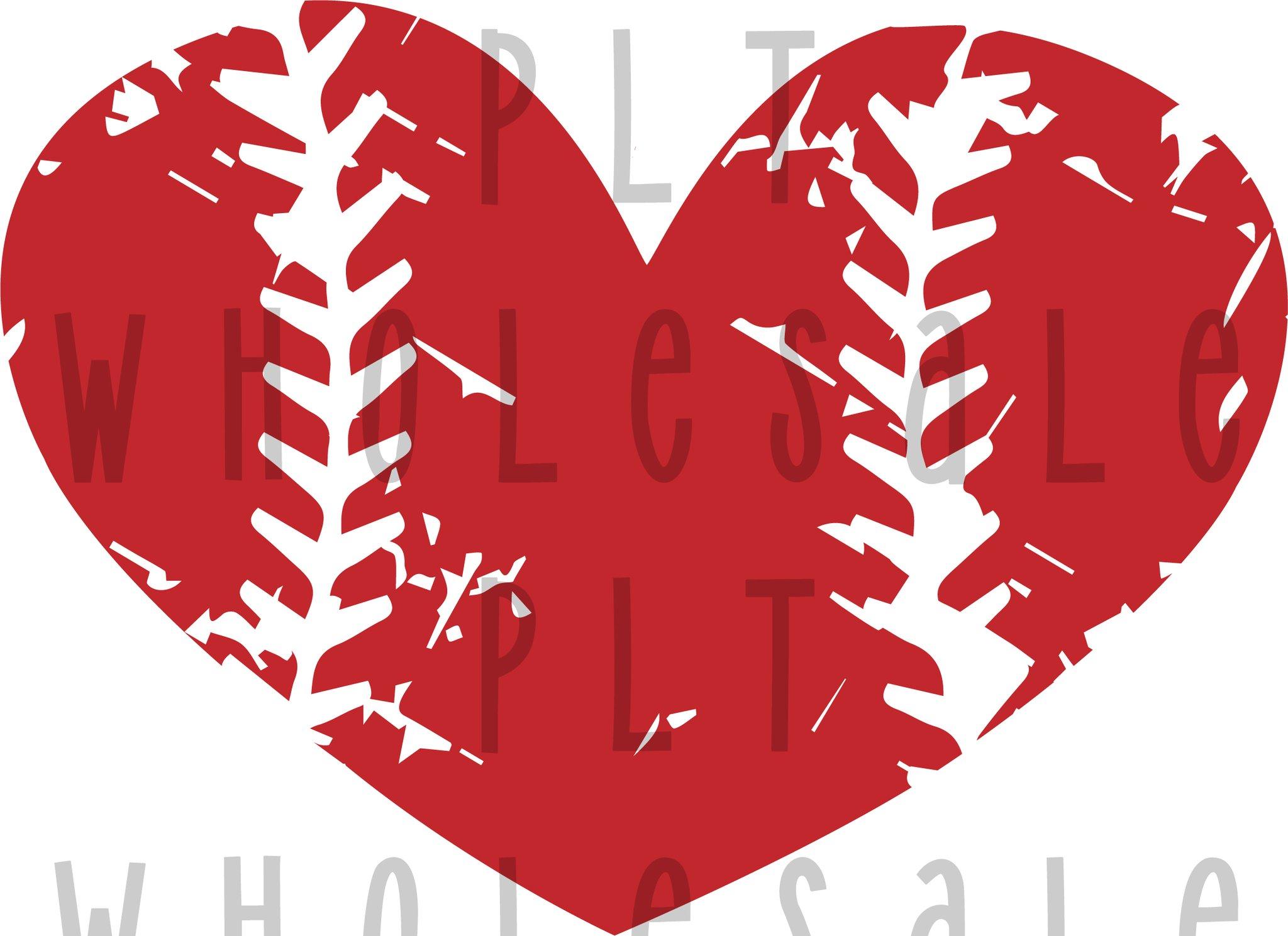Distressedbaseball clipart clipart freeuse download Distressed Baseball Heart - Dye Sub Heat Transfer Sheet clipart freeuse download