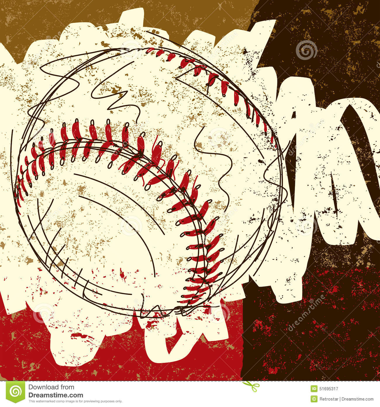 Distressedbaseball clipart graphic royalty free download Distressed Baseball Script With A Baseball #41348 - Clipartimage.com graphic royalty free download
