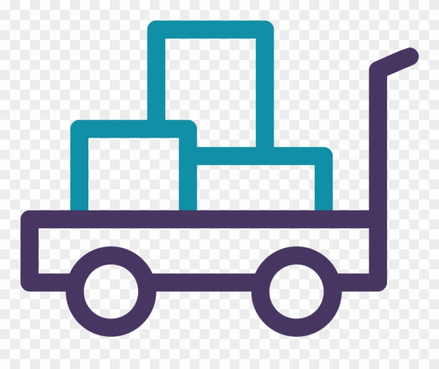 Distribution icon clipart png transparent library Trolley Icon - Logistics And Distribution Icon Png Clipart (#3223596 ... png transparent library