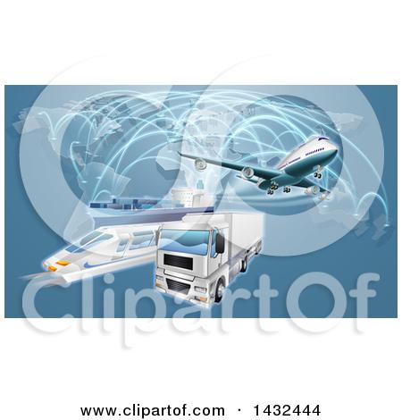 Royalty free rf illustrations. Distribution plane clipart