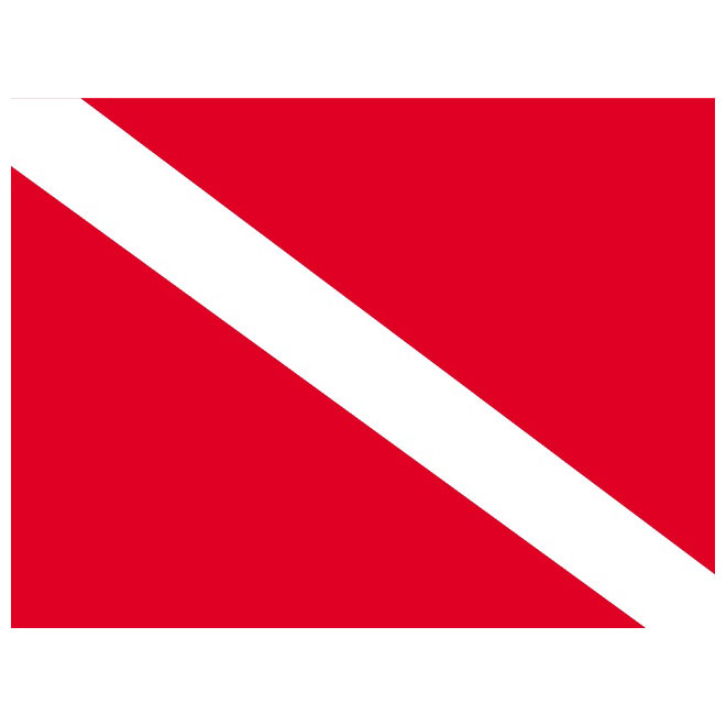 Dive flag clipart stock Signal flag for diver down - Free vector image in AI and EPS format. stock