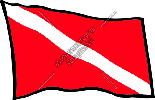 Dive flag clipart graphic royalty free library Diver Down Scuba Flag Clipart and Vectorart: Misc Graphics - Beach ... graphic royalty free library