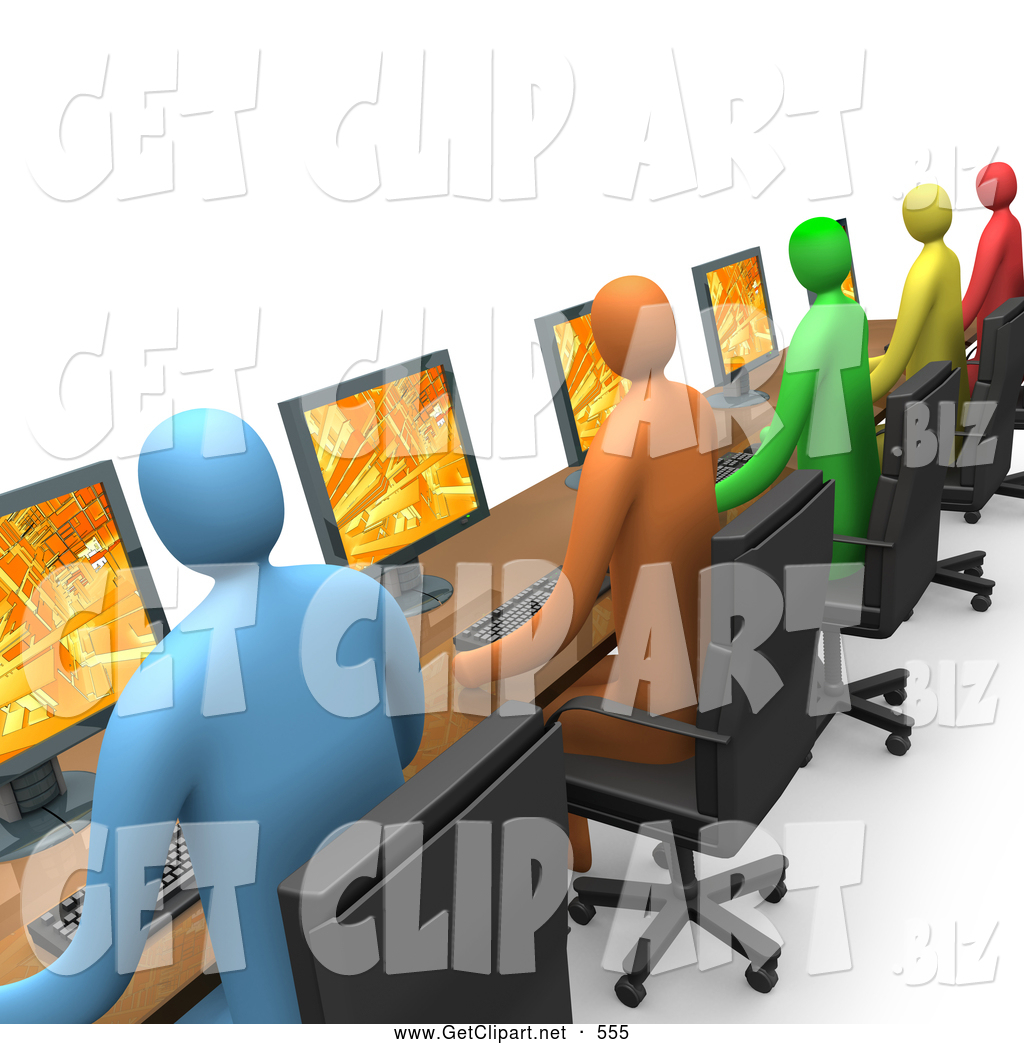 Diverse student population clipart in a row clipart library stock Royalty Free Internet Cafe Stock Get Designs clipart library stock