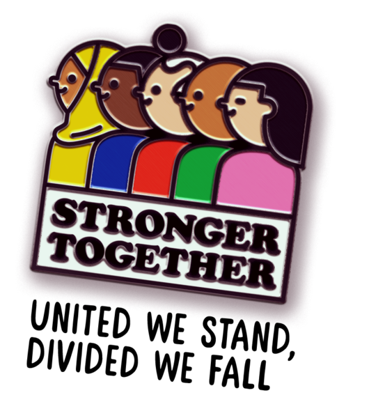 Divided we fall clipart svg library stock United We Stand, Divided We Fall | Grrl Power | Jacket pins ... svg library stock