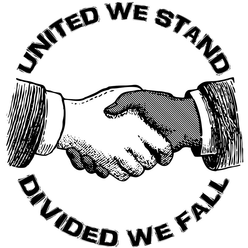 Divided we fall clipart picture black and white stock United We Stand - Divided We Fall | Art Print picture black and white stock