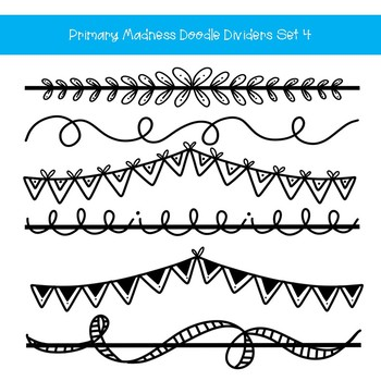 Dividers clipart vector freeuse Doodle Page Dividers Clip Art Set 4 vector freeuse