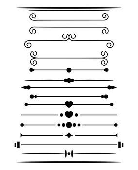 Free clipart lines and dividers with crowns.  simple page border