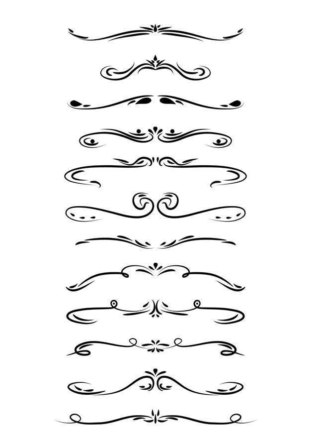 Dividers clipart graphic transparent download 12 Hand Drawn Dividers Clipart graphic transparent download