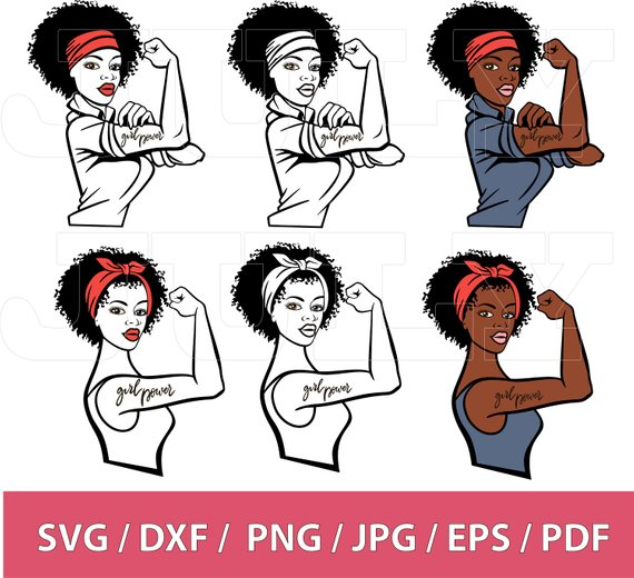 Powerful woman clipart
