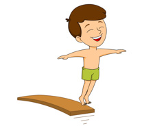 Diving board clipart
