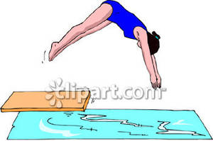 Diving board clipart png free stock Girl Diving Off a Diving Board Royalty Free Clipart Picture png free stock