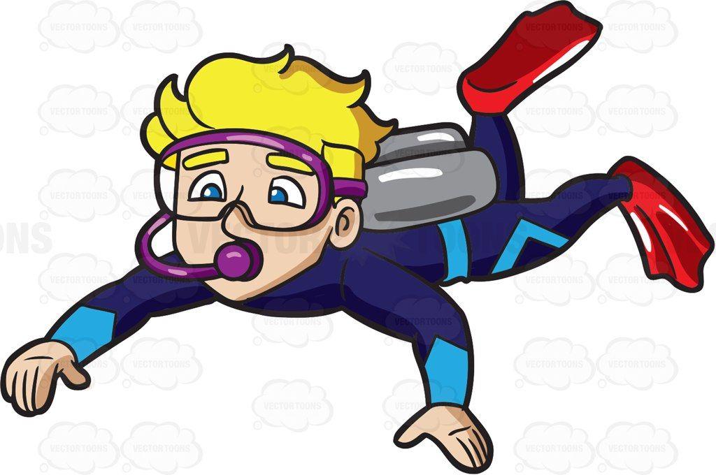 Diving man clipart freeuse A Man Enjoying A Deep Sea Dive | Clipart, Characters, etc. | Deep ... freeuse