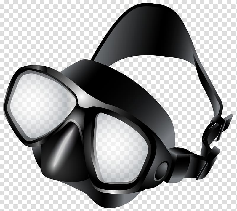 Scuba diving mask clipart black and white