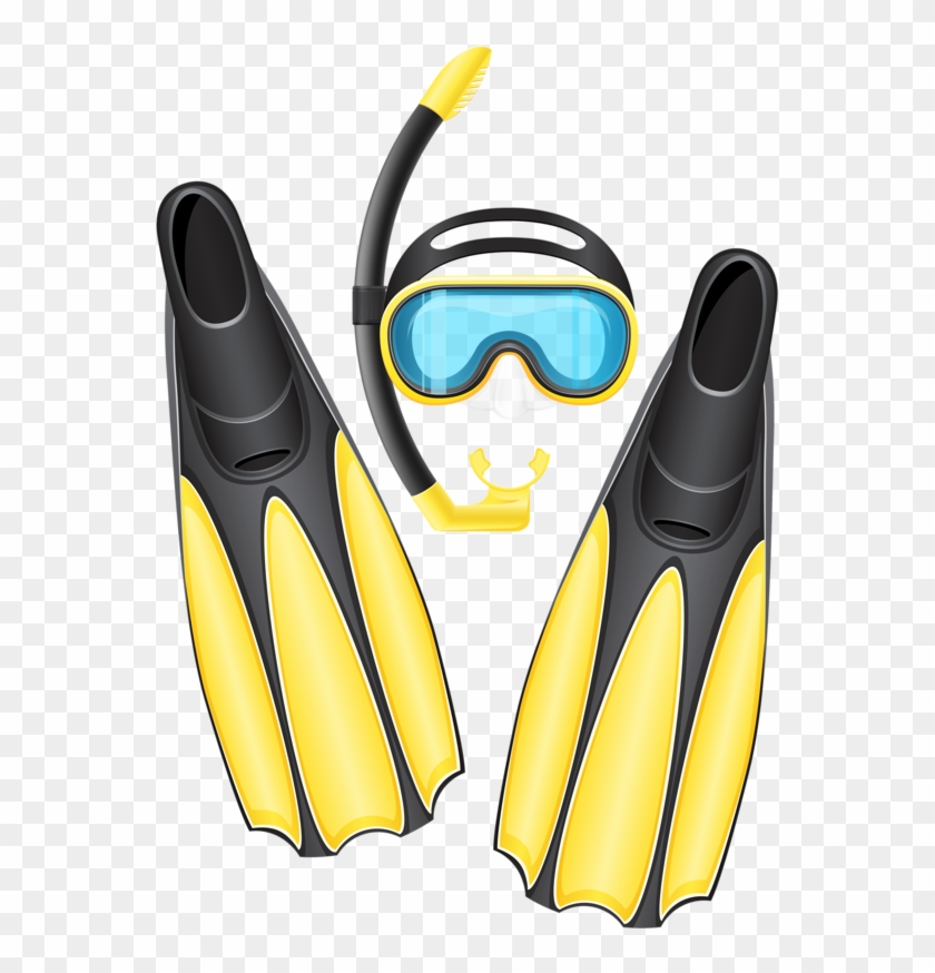Diving mask clipart svg freeuse library Фотки Scuba Gear Mask Flippers - Scuba Diving Gear Clipart, HD Png ... svg freeuse library