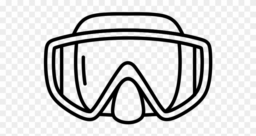 Scuba diving mask clipart black and white vector royalty free download Dive Mask - Line Art Clipart (#826939) - PinClipart vector royalty free download