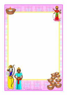 Diwali clipart frames clipart free Diwali A4 page borders | Diwali | Page borders, Diwali, Doodle lettering clipart free