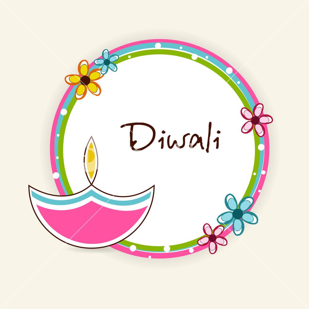Diwali clipart frames vector Diwali festival celebration with frame.? Illustration of a rounded ... vector