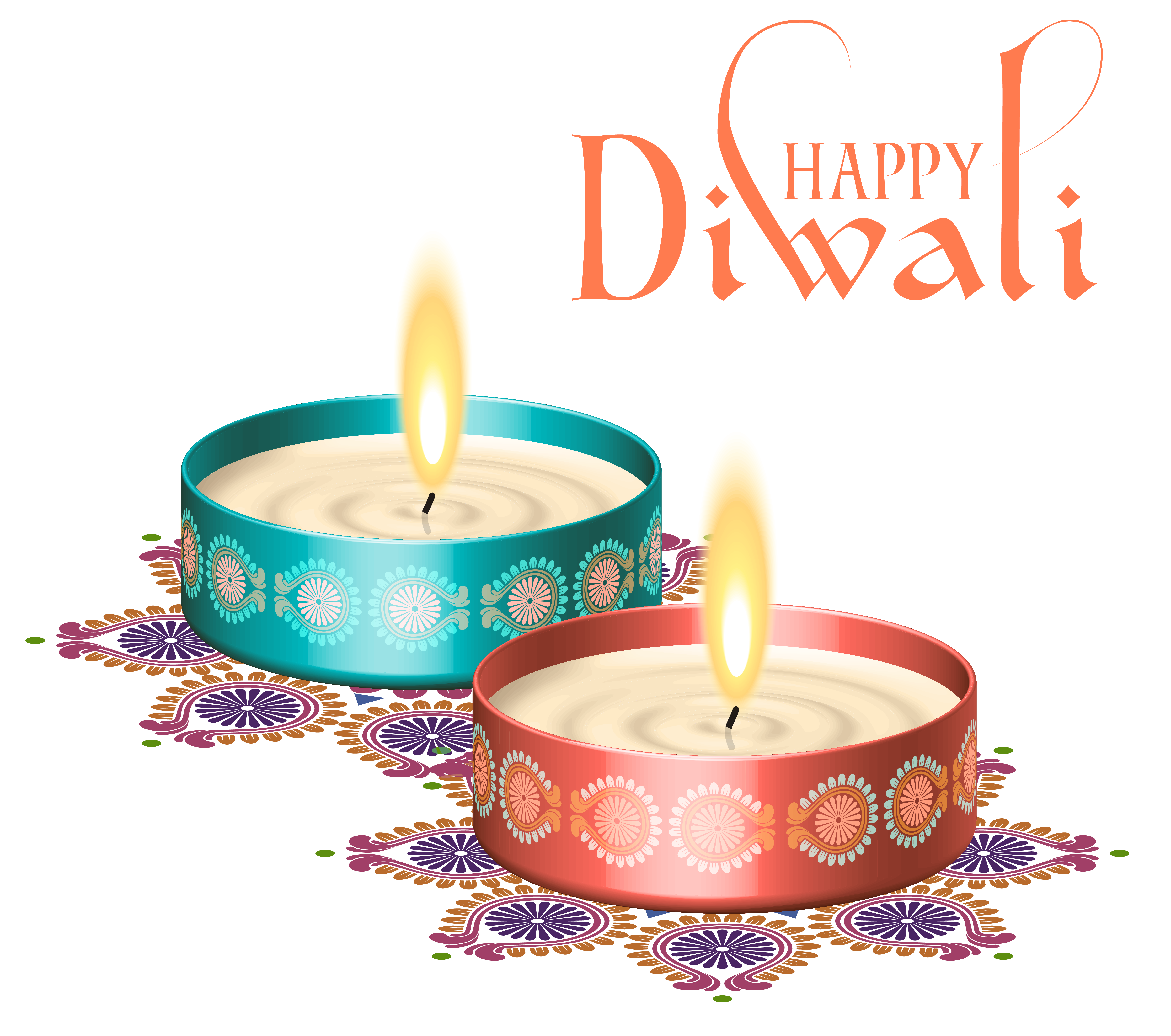 Diwali clipart hd vector library library Happy Diwali Nice Candles PNG Clipart Image | Gallery Yopriceville ... vector library library