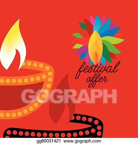 Diwali dhamaka clipart svg freeuse stock Vector Illustration - Diwali offer . EPS Clipart gg80031421 - GoGraph svg freeuse stock
