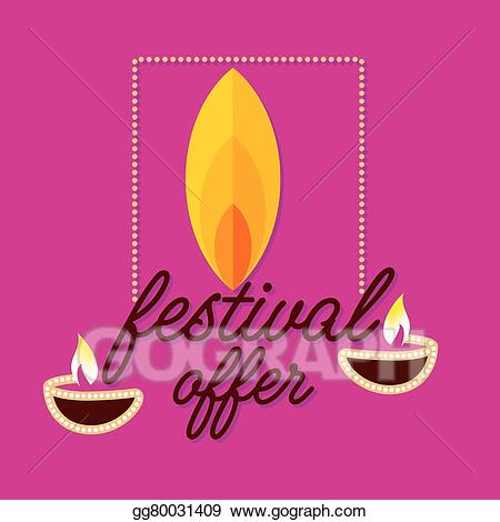 Diwali dhamaka clipart svg free library Vector Illustration - Diwali offer . EPS Clipart gg80031409 - GoGraph svg free library