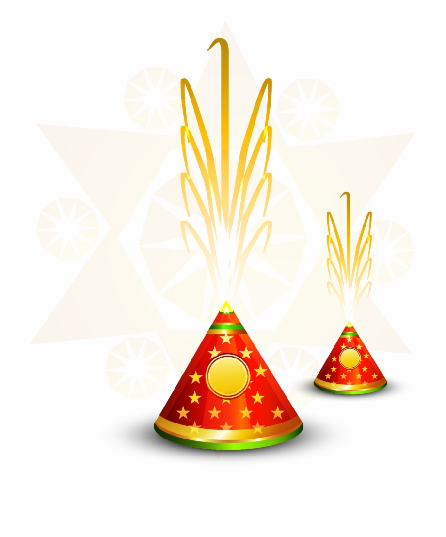 Diwali fireworks clipart image freeuse download Vector Diwali Fireworks Firecracker Hindi Free Clipart - Flower Pot ... image freeuse download